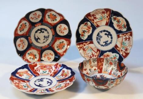 Various 19thC and later Japanese Imari pottery