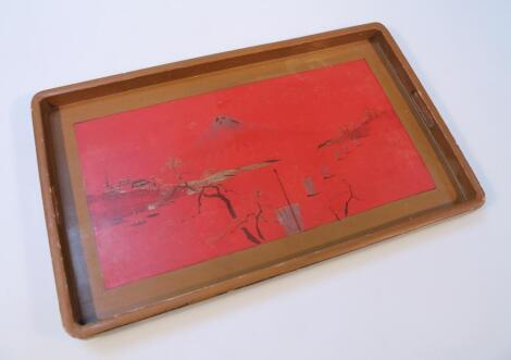 A 20thC Japanese lacquer tray