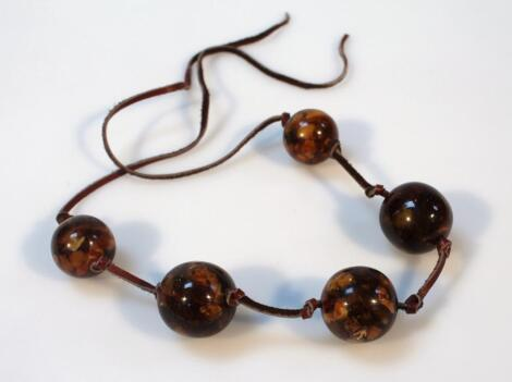 An amber style necklace