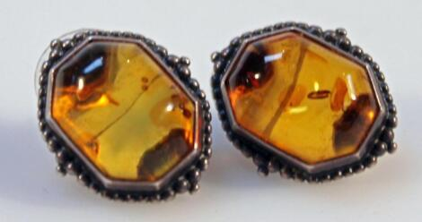 A pair of Baltic amber earrings