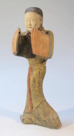 A Chinese terracotta figure