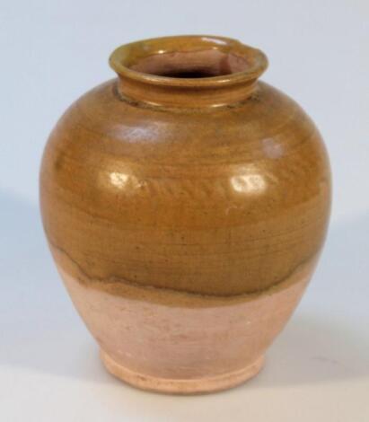 A terracotta vase