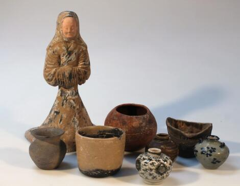 Various Chinese Cambodian and other terracotta earthenware