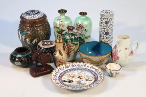 Various late 19thC/ early 20thC Japanese cloisonne