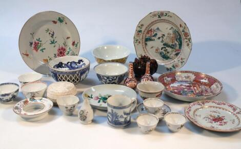 Various 18thC and later Chinese and Japanese porcelain and earthenware
