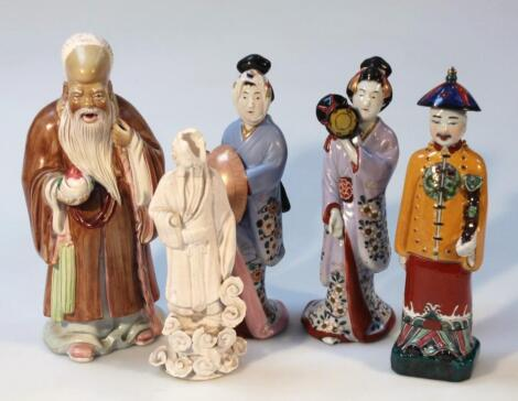 Various 19thC and later oriental figures