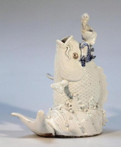 A Chinese glazed earthenware figure