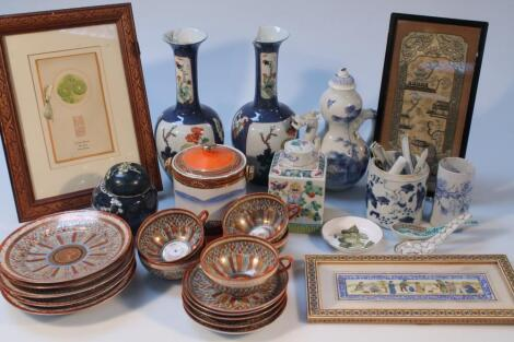 Various Chinese and Japanese earthenware