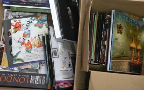 A quantity of saleroom catalogues