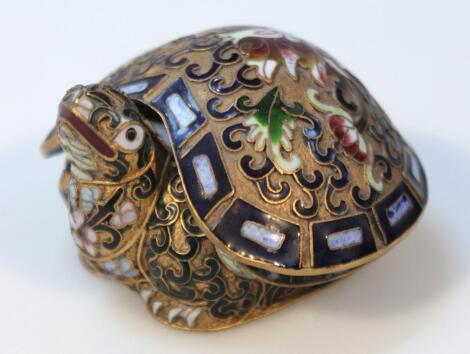 A 20thC Chinese cloisonne pin dish