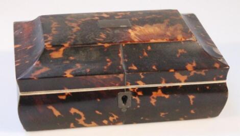 A 19thC tortoiseshell casket