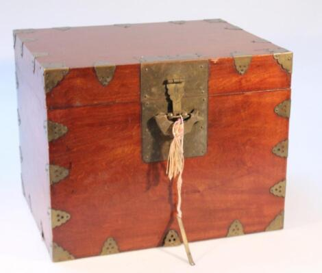 A Chinese mahogany silver chest