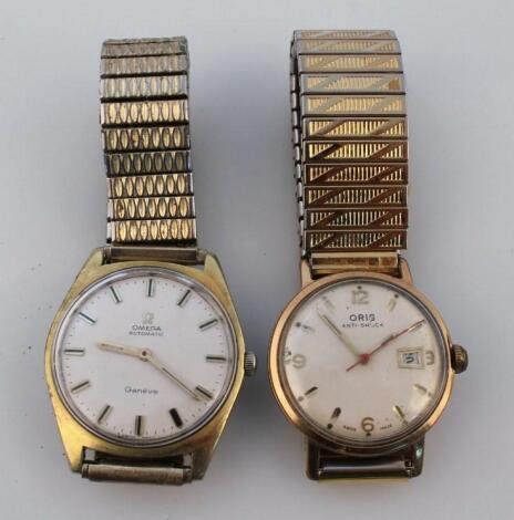 A 20thC gentleman's Omega automatic wristwatch