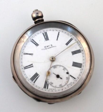 An early 20thC Kay's Triumph pocket watch