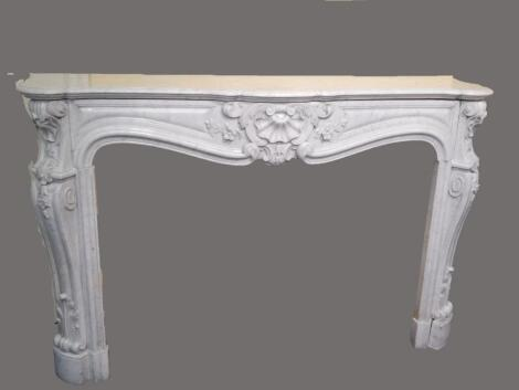 A fine 19thC French marble fire surround