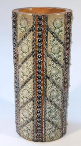 An early 20thC Doulton Lambeth stick stand