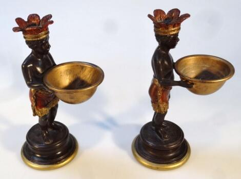 A pair of 19thC style open salts