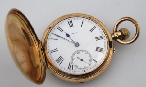 An 18ct gold gentleman's Hunter pocket watch
