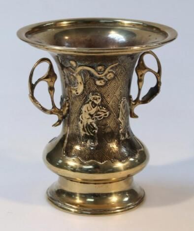 An early 20thC Chinese brass vase