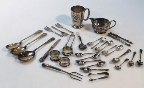 Various George V and later silver and plate