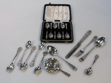 Various Victorian and later silver flatware