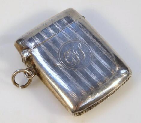 A George V silver vesta case