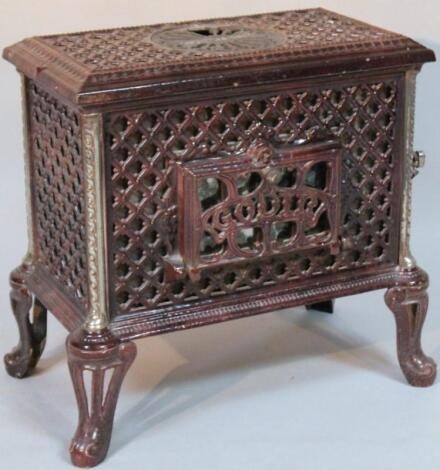 A Godin cast iron Chauffette stove