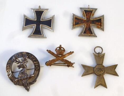 Various medals and badges
