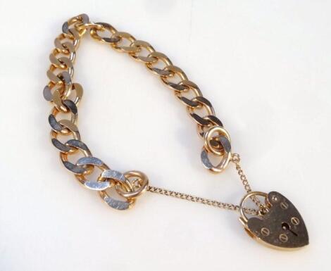 A curb link bracelet
