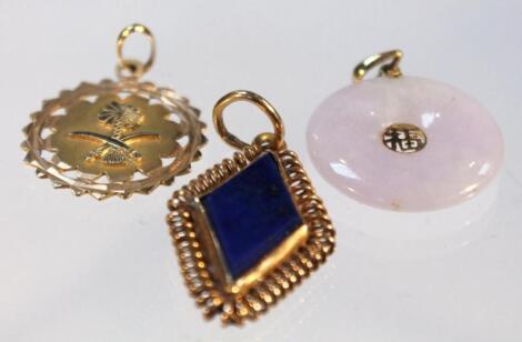 Three various pendants