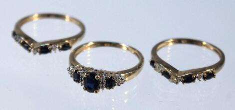 Three dress rings