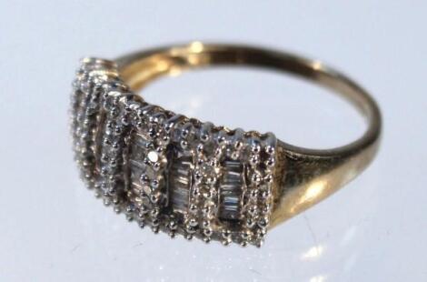 A rectangular cluster ring