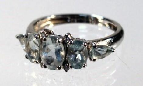 A five stone dress ring