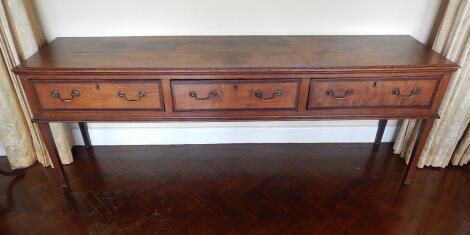 A George III oak dresser base