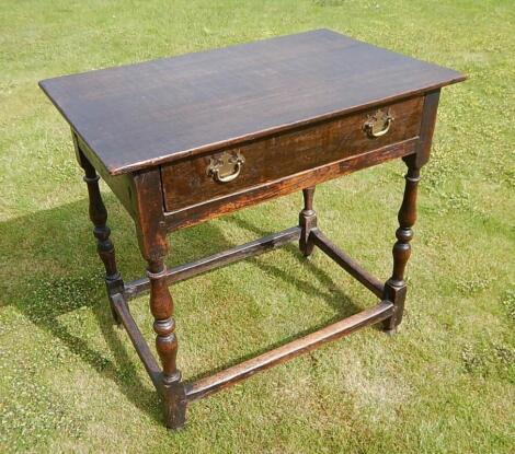 An 18thC oak hall table