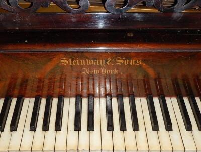 A late 19thC table piano by Steinway and Sons of New York - 2