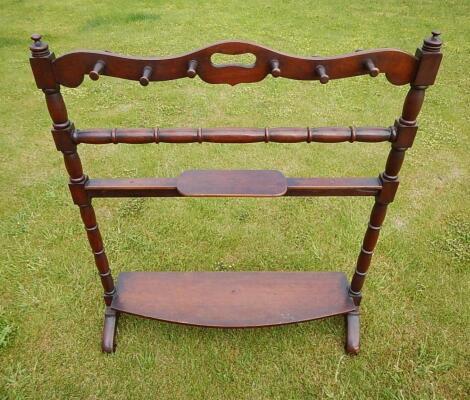 A Victorian mahogany boot rack