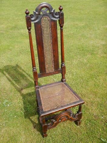 A 17thC oak high back chair