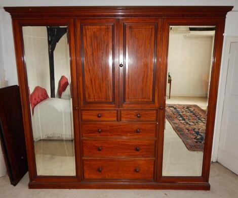 An early 20thC mahogany wardrobe
