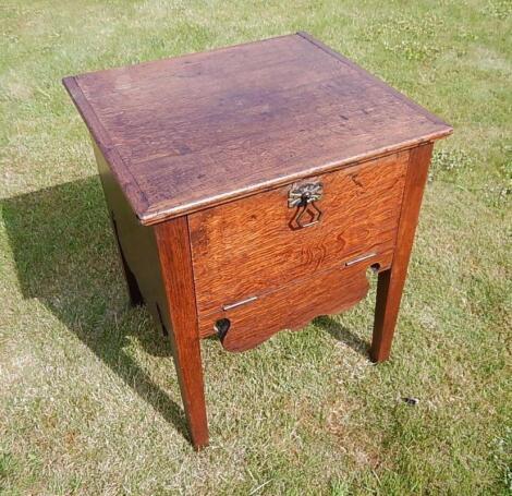 A George III oak pot cupboard