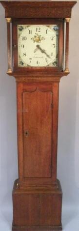 A 19thC oak longcase clock