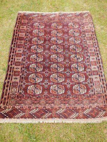A Turkoman rug