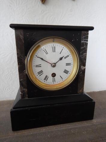 A Victorian mantel clock
