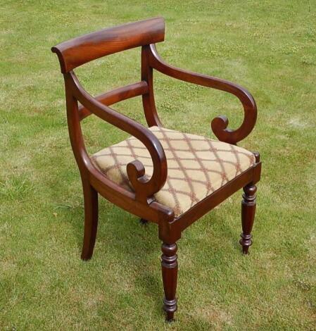 An early Victorian mahogany carver