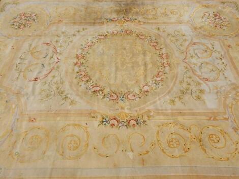 A Spanish Aubusson carpet