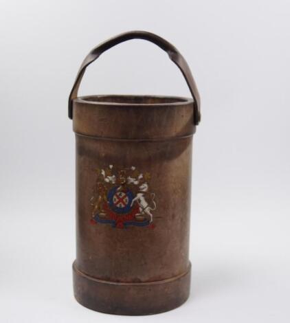 A leather bound powder keg
