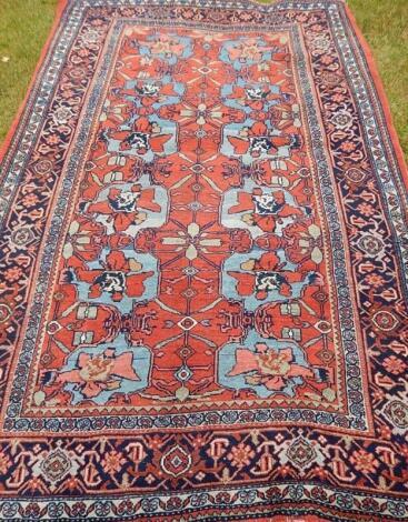 An antique eastern rug