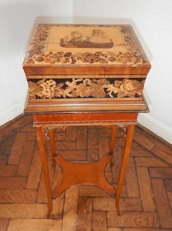 A Victorian Tunbridge workbox