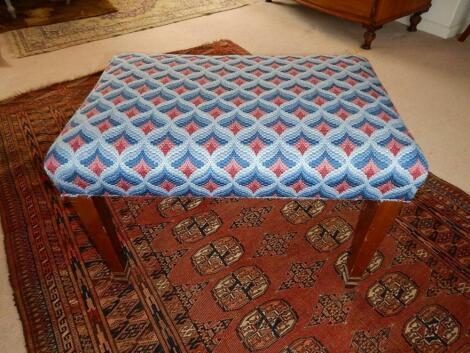 A mahogany dressing stool
