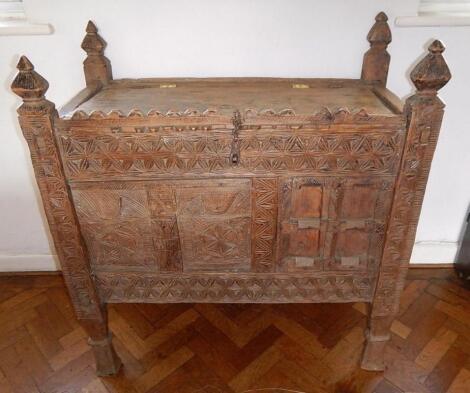 An 18thC Continental pine chest